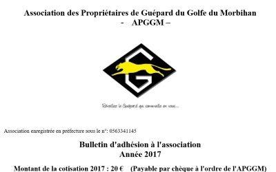 Bulletin d'adhésion 2017